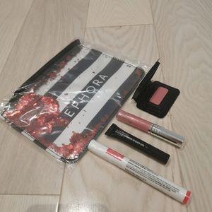NWT make up for ever, Mac, Clinique, Sephora pouch